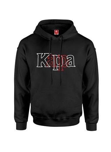 Kappa Kapüşonlu Sw-Shirt Balor  Siyah